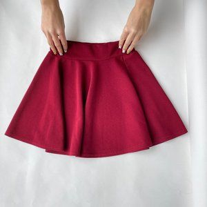Vintage high waisted circle mini skirt.